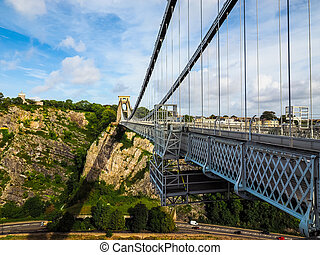 HDR Clifton Suspension Bridge in Bristol - HDR Clifton...