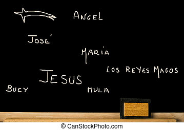 Concept Christmas card in spanish language - Concept...