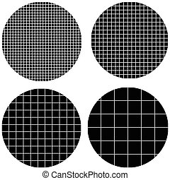 circle is made up of squares