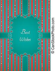 motivation retro best wishes sticker - Decorative birthday...