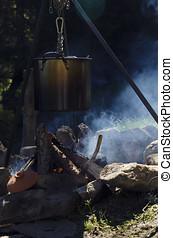 Fire in a camp