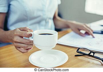 caffè, cogliere, cucciolo, su