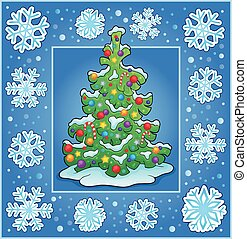 Christmas composition greeting card 1