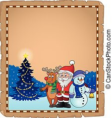 Christmas characters theme parchment