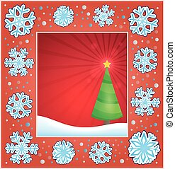 Christmas subject greeting card 2 - eps10 vector...
