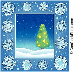 Christmas subject greeting card 3 - eps10 vector...