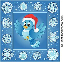 Christmas subject greeting card 5 - eps10 vector...