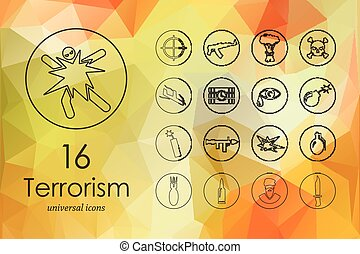 Set of terrorism icons - terrorism modern icons for mobile...