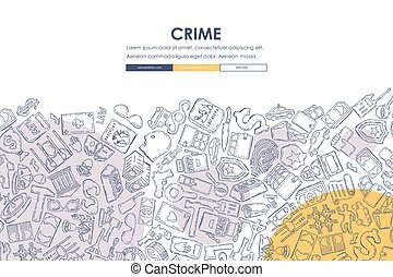 crime Doodle Website Template Design - crime Website...