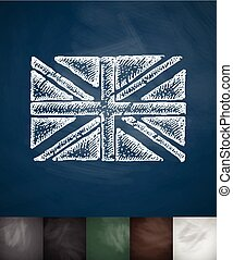flag of England icon. Hand drawn vector illustration