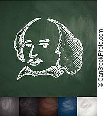man icon. Hand drawn vector illustration. Chalkboard Design