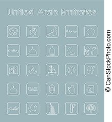 Set of United Arab Emirates simple icons