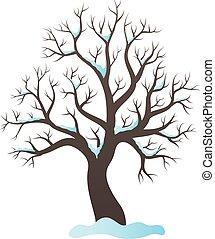 Winter tree topic image illustration.