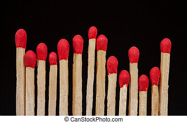 matchstick closeup isolated
