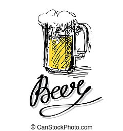 beer glass letters