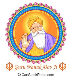 Happy Guru Nanak Jayanti festival of Sikh celebration...
