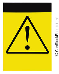 Blank general warning sign - Blank yellow black triangle...