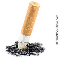 Cigarrillo, culito, macro