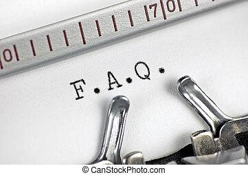 Typewriter macro closeup, typing FAQ - Typewriter large...