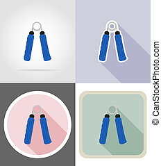 expander flat icons illustration isolated on background