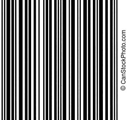 Large Barcode Background Macro Closeup Isolated On White -...