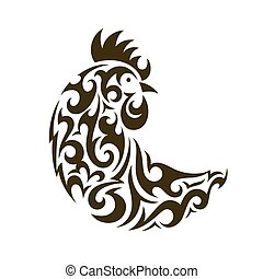 Ornamental rooster - symbol of New Year 2017.
