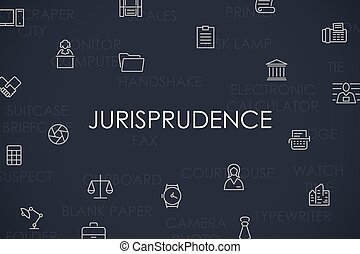 Jurisprudence Thin Line Icons - Thin Stroke Line Icons of...