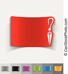 realistic design element. earring - earring paper sticker...