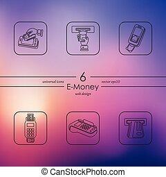 Set of e-money icons