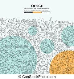 office Doodle Website Template Design - office Website...