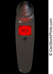 Child Ear Thermometer High Red