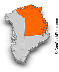 Map - Greenland, Northeast Greenland National Park -...