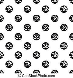 Ohm symbol pattern, simple style - Ohm symbol pattern....