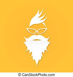 Christmas hipster poster for greeting card