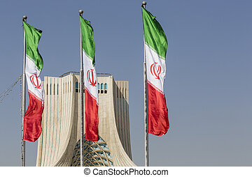 TEHRAN, IRAN - OCTOBER 04, 2016: View of the Azadi Tower in...