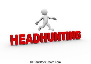 3d man jumping from headhunting
