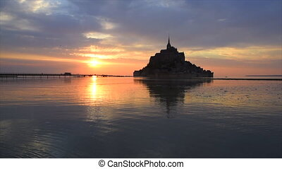 MONT SAINT MICHEL - Abbey Mont Saint Michel, Normandy,...