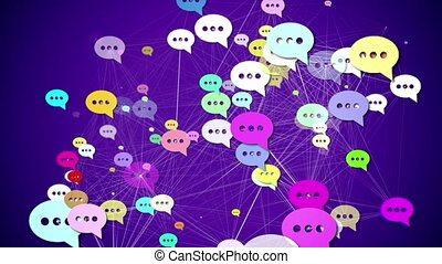 """Messages. Social media concept."" - ""Group of Messages icons..."