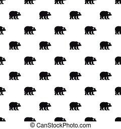 Bear pattern, simple style - Bear pattern. Simple...