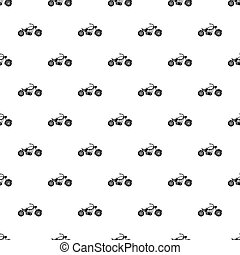 Motobike pattern, simple style - Motobike pattern. Simple...