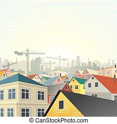 Housing Development Vector - Township Housing Development....
