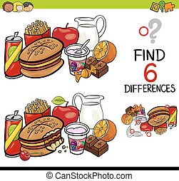 differences - Cartoon Illustration of Finding the Difference...