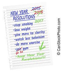 Make, break resolutions. Stop smoking, lose weight etc....