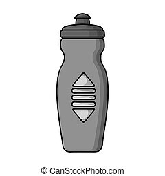 Water bottle icon in monochrome style isolated on white...
