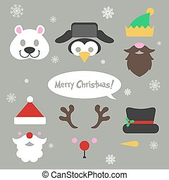 Christmas photo booth and scrapbooking set. - Christmas...