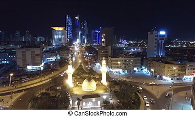 Kuwait skyline at night. Some famous places in Kuwait...