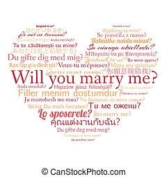 私, 心, 別, 結婚しなさい, 言語, 意志, 形, 言葉, 句, あなた, 雲