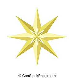 Eight-pointed Star Illustration in Flat Design -...