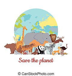 Save the Planet Baner - Save the planet baner. Various...