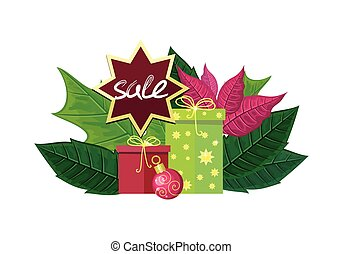 Christmas Sale Vector Concept in Flat Design - Christmas...